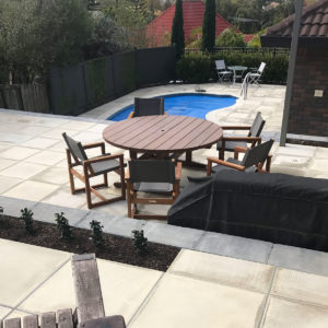 Rigga's Auckland poolside paving